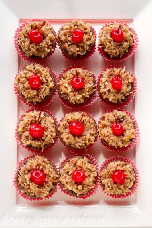 German's Chocolate Cupcakes-3