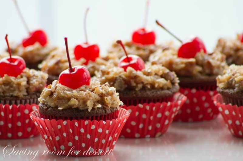 German's Chocolate Cupcakes-5