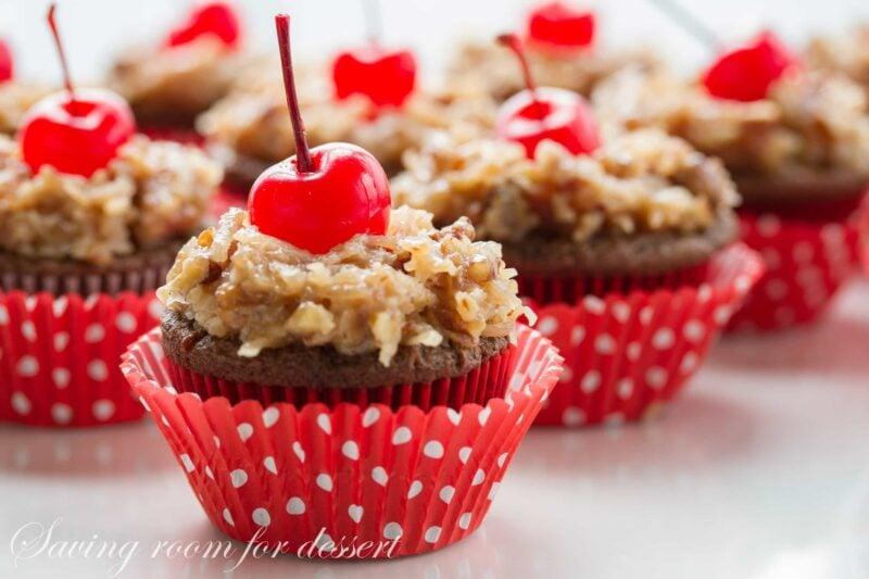 German's Chocolate Cupcakes-6