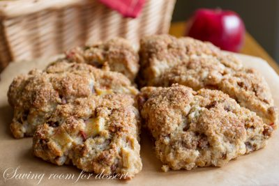 light together with fluffy amongst a crispy sweetness crust Apple Cinnamon Scones