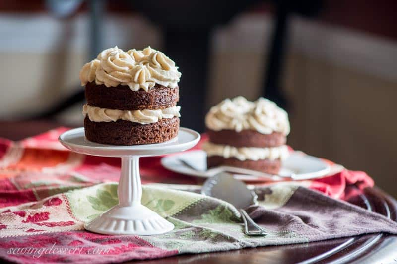 Mini Applesauce Spice Cakes With Browned Butter Cinnamon