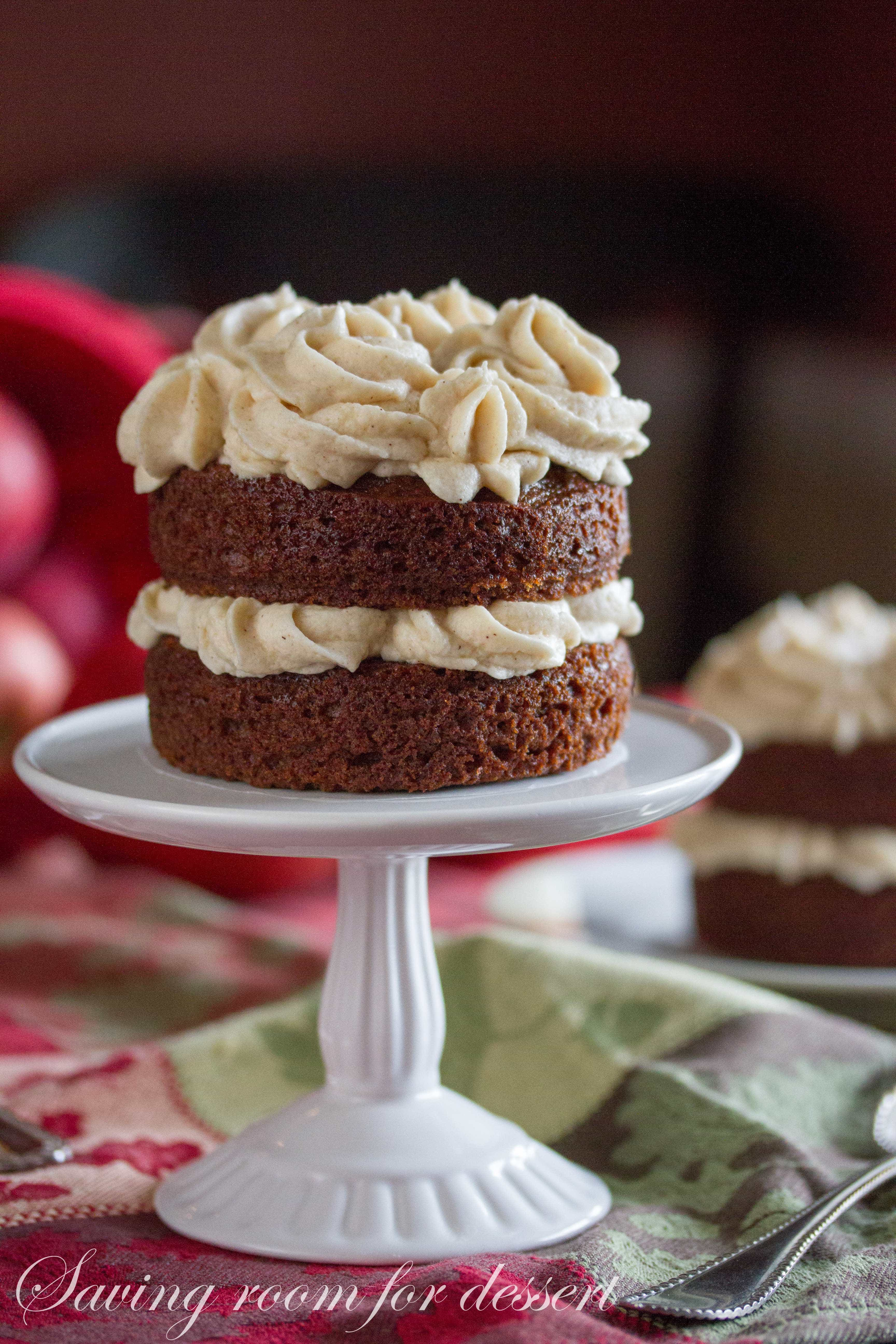 Applesauce Spice Cake with Browned Butter Cinnamon Buttercream