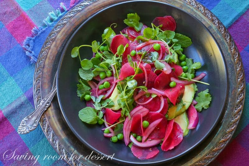 Beet, Avocado and Pea Salad-20