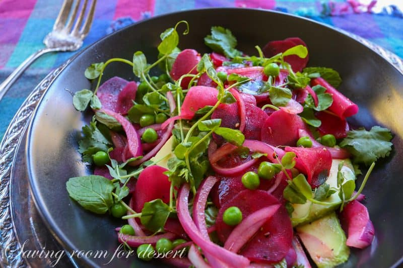 Beet, Avocado and Pea Salad-21