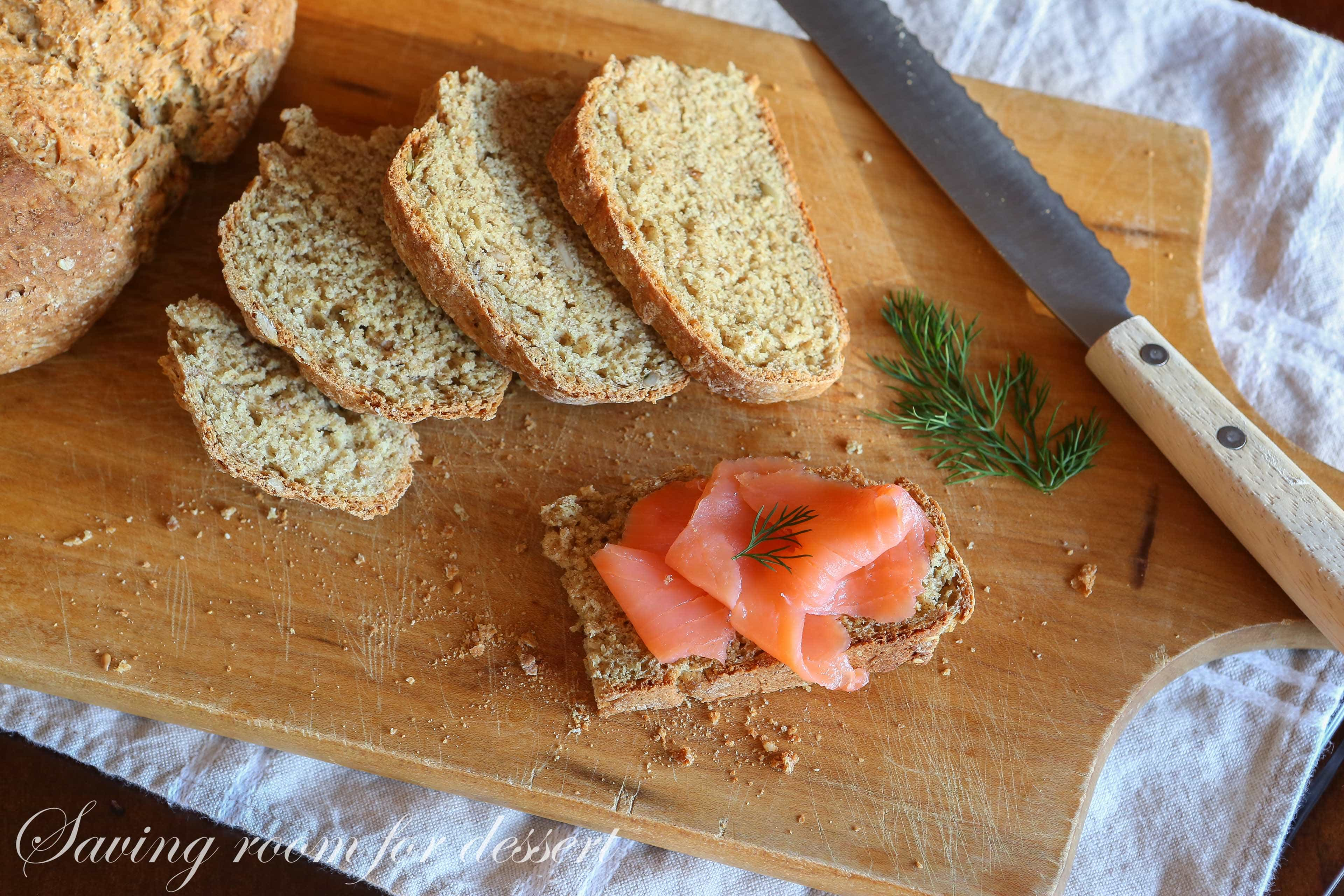 The Irish often enjoy this bread topped with smoked salmon or mackerel ...