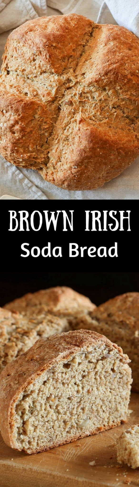 Brown Irish Soda Bread - fresh baked bread with an amazing crust, a nutty, fluffy, soft crumb and a flavor that is often found with harder-to-make yeast breads.  www.savingdessert.com