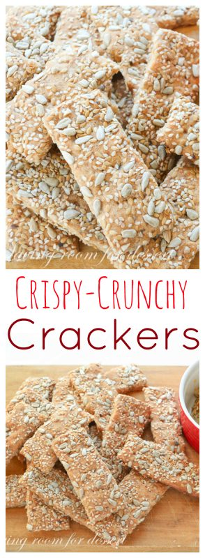 My hubby called these my plane seed crackers Crunchy Crackers