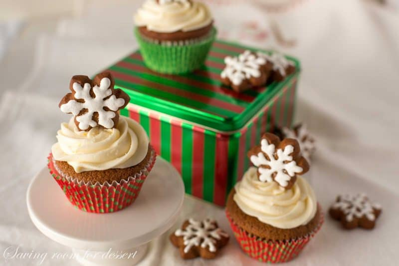 Gingerbread Cupcakes with Lemon Cream Cheese Frosting and gingerbread ...