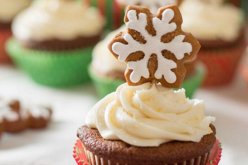 Gingerbread Cupcakes alongside Lemon Cream Cheese Frosting Gingerbread Cupcakes alongside Lemon Cream Cheese Frosting