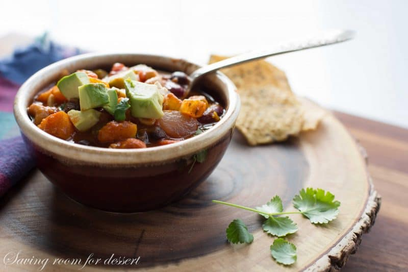 meatless chili amongst butternut squelch too cashew nuts Butternut Cashew Chili