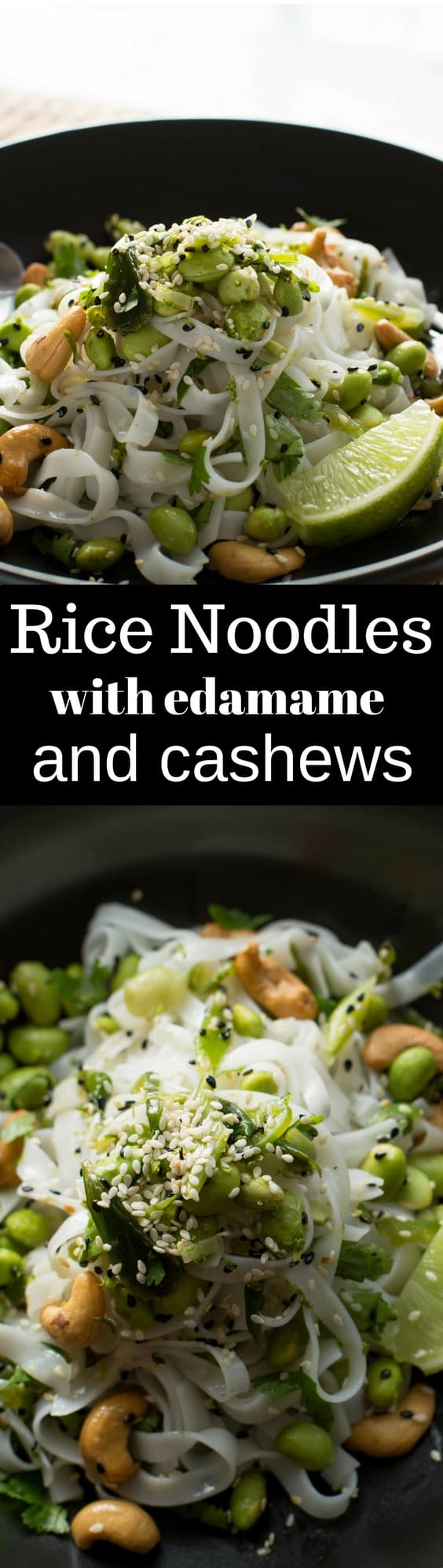 Simple meatless Mon meals are turning inward to to a greater extent than or less of my absolute favorite dishes Rice Noodles amongst Edamame together with Cashews