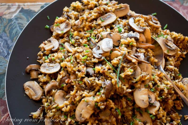this pilaf is filling amongst a nutty flavor from the wild rice blend Wild Rice as well as Mushroom Pilaf