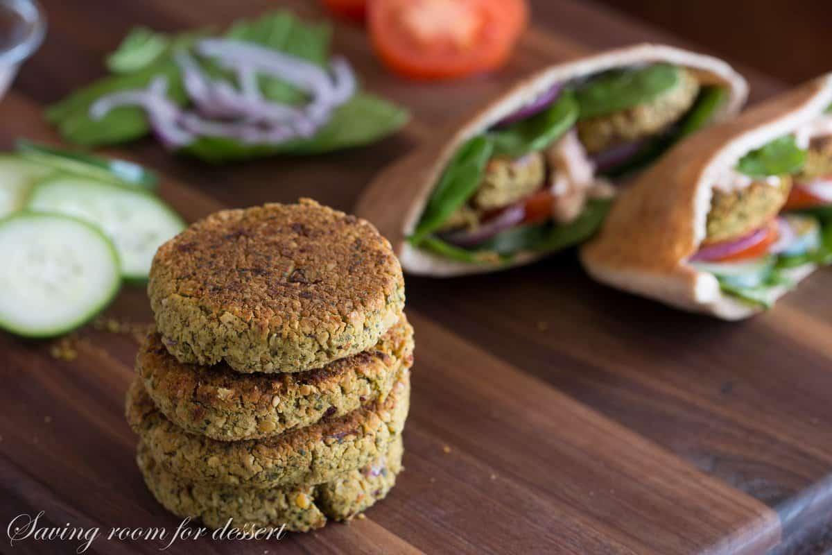 crispy baked falafel with baked falafel baked falafel thumb jpg baked ...