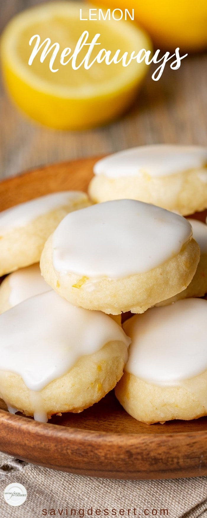 Lemon Meltaways ~ Light and buttery, these lemon bite-sized cookies are a real treat! Easy to make and the perfect little bite of lemon! #meltaway #meltawaycookies #cookies #lemoncookie #meltaways #lemonmeltaways