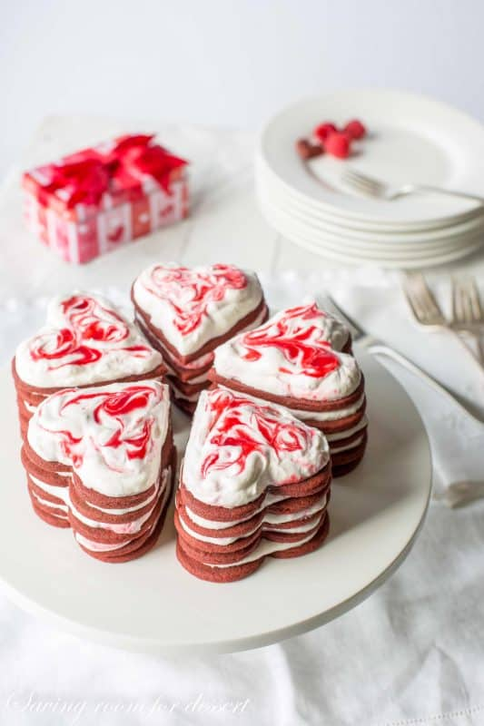 I gauge yous tin nation this is non a meatless Raspberry  Chocolate Cookie Stack Cakes
