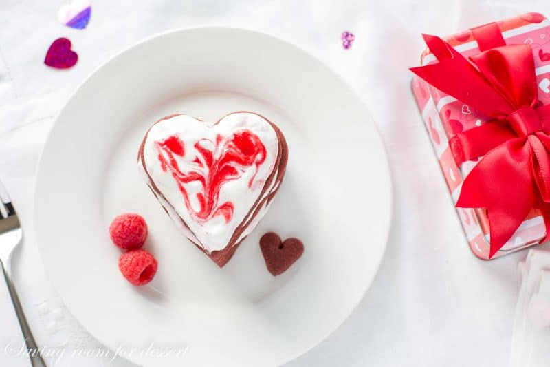 Raspberry & Chocolate Heart Cookie Stack Cakes