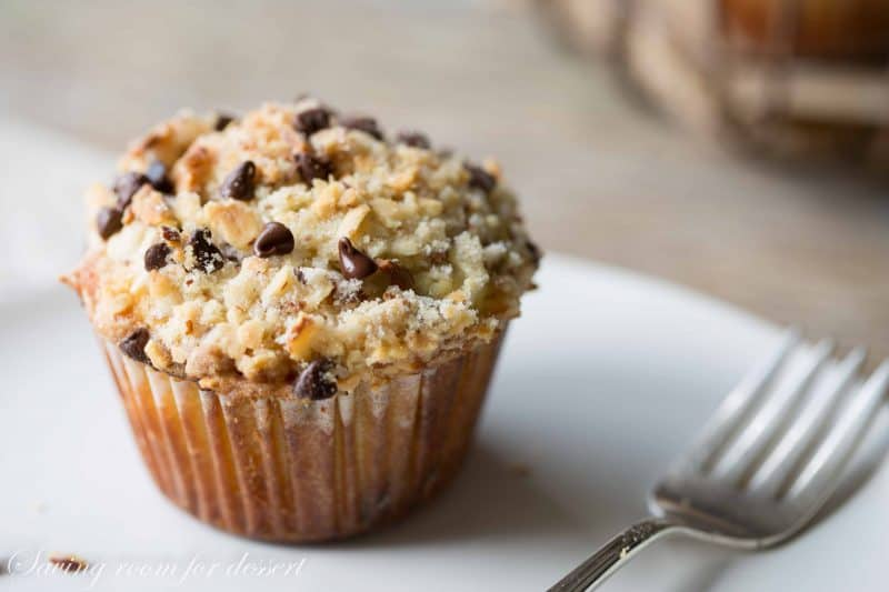 Almond Chocolate Chip Streusel Muffins