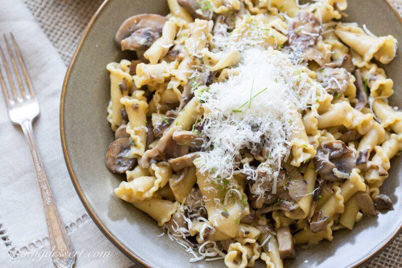 Campanelle with Mushroom Sauce-3