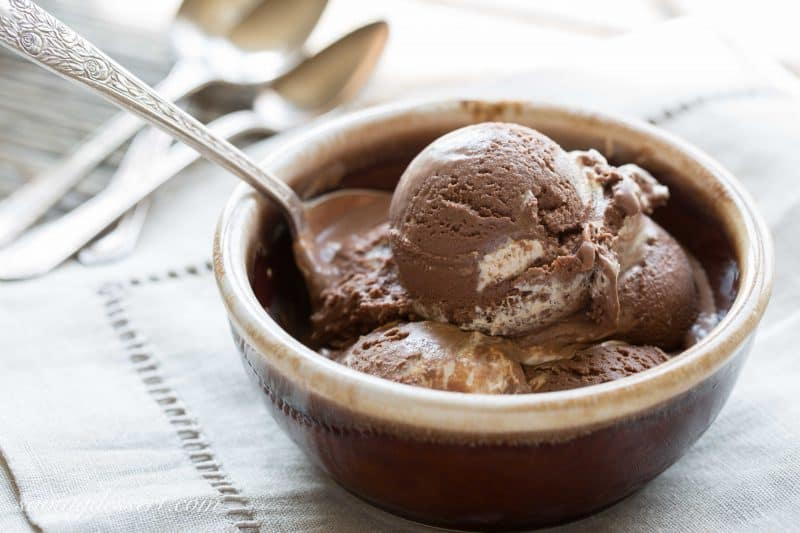 Chocolate Fluffernutter Ice Cream