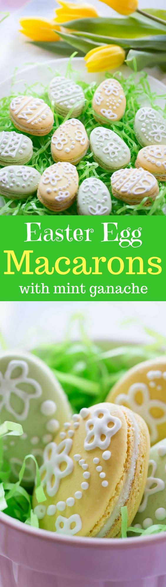 Macarons with White Chocolate-Mint Ganache - Saving Room for Dessert