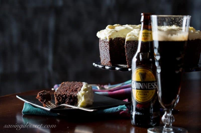 Guinness Chocolate Cake ~ from www.savingdessert.com