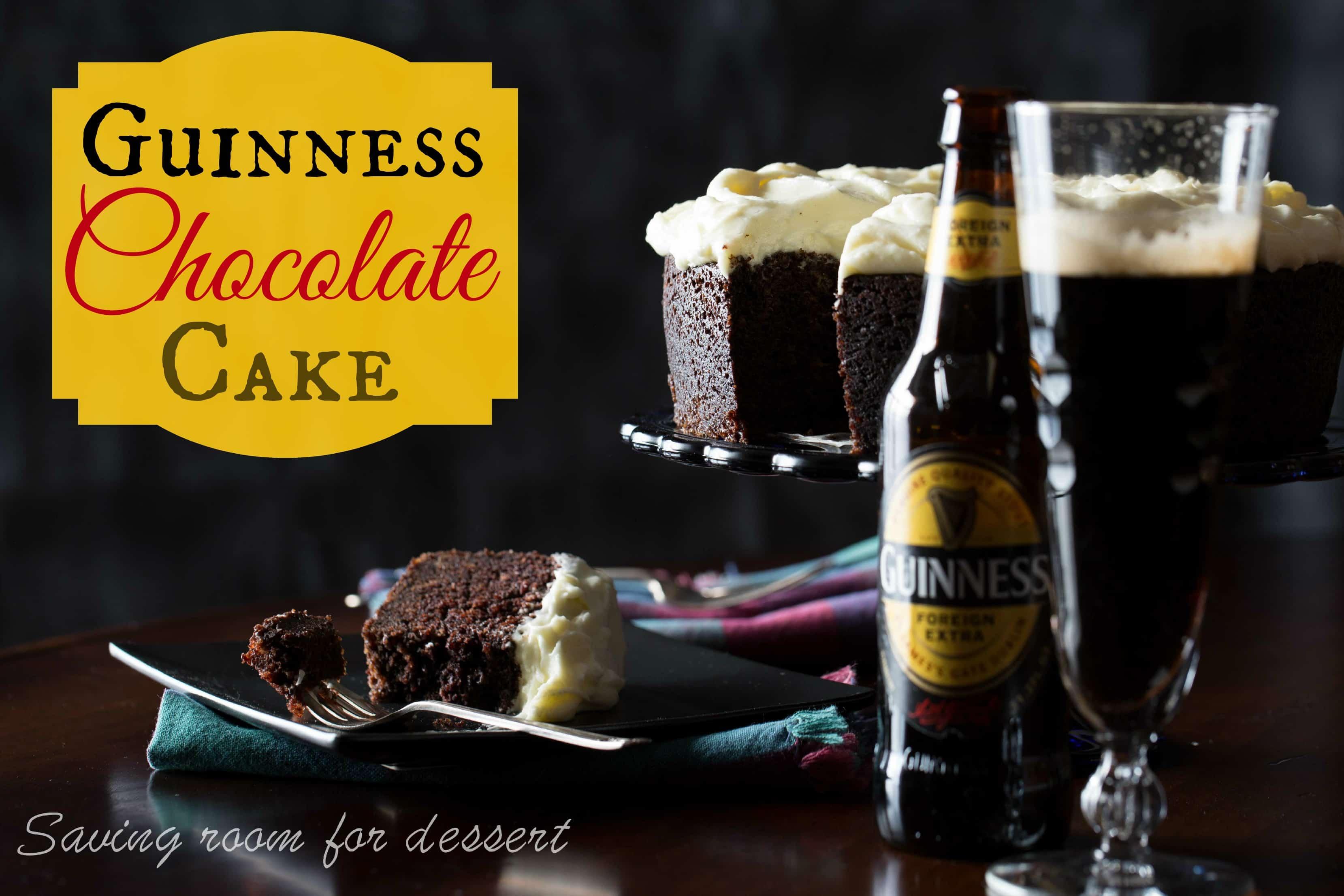 Guinness Chocolate Cake - Saving Room for Dessert