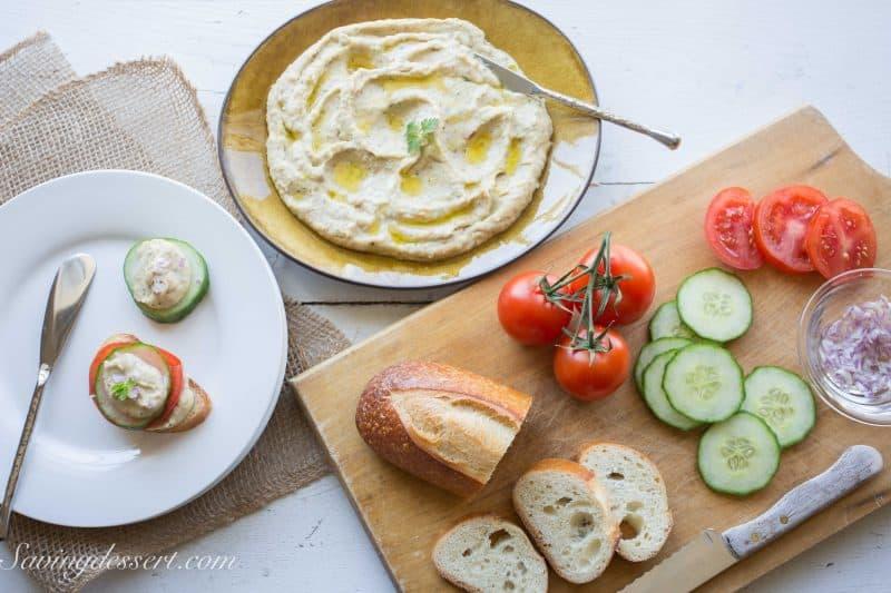 Roasted Garlic White Bean Dip-4