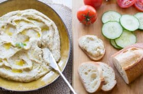 Roasted Garlic White Bean Dip-5