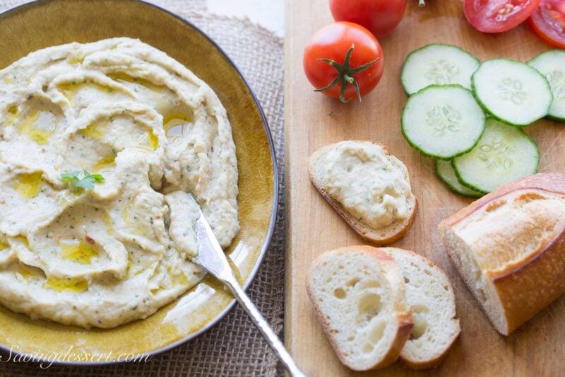 Roasted Garlic White Bean Dip-5