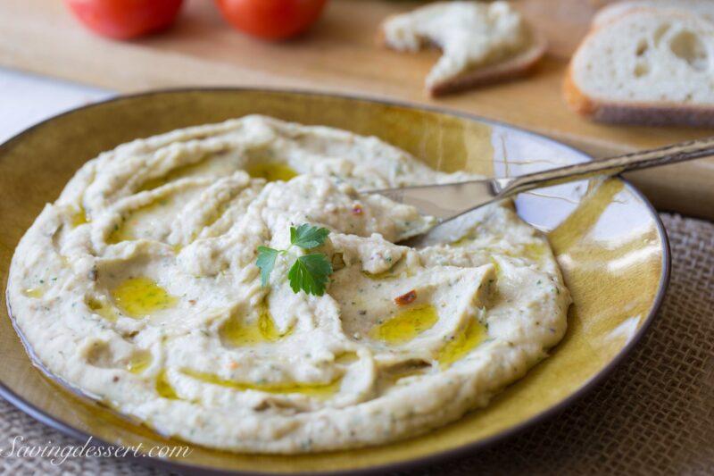 Roasted Garlic White Bean Dip-6