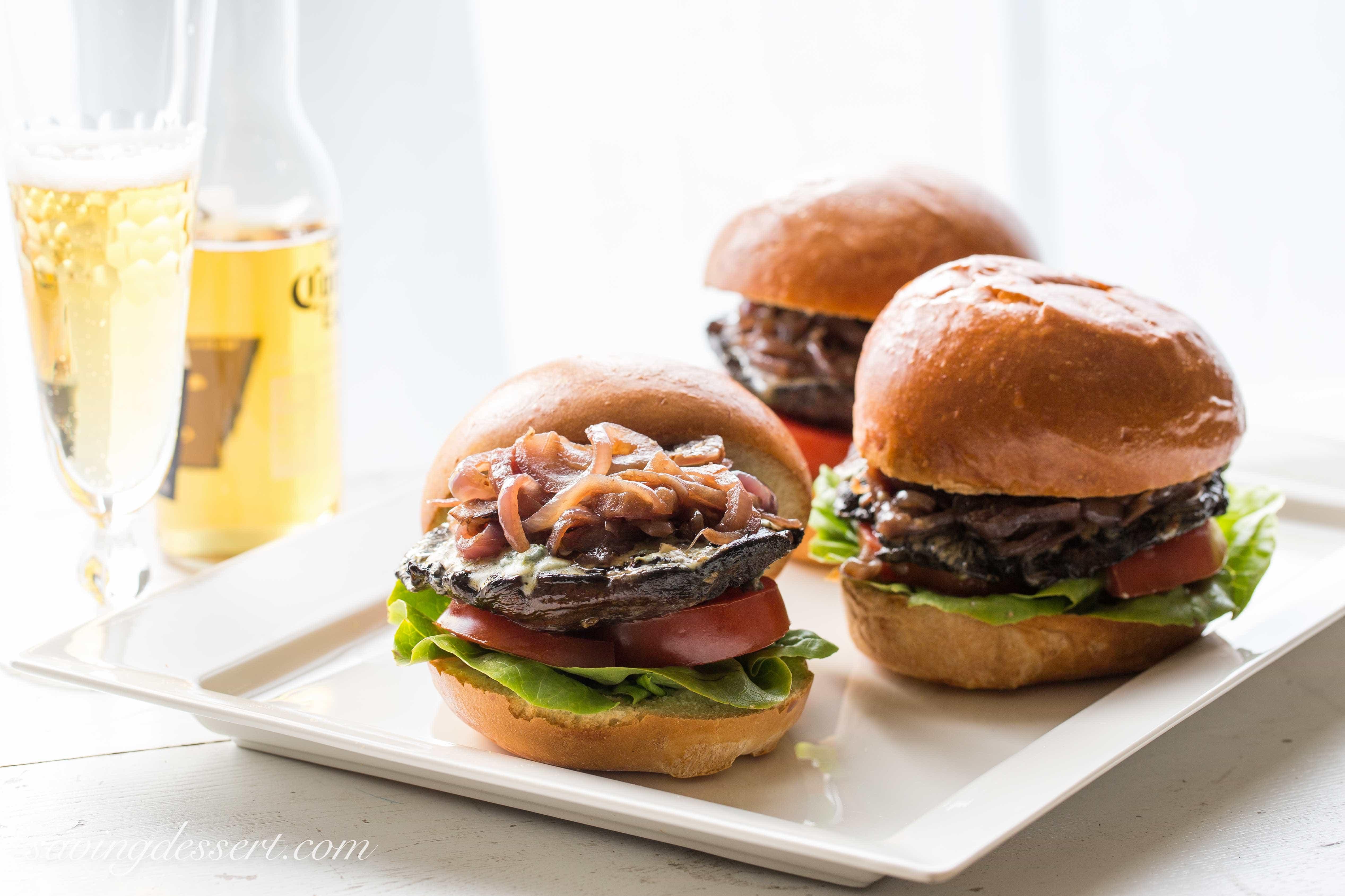 Portobello Blue Cheese Burgers-4