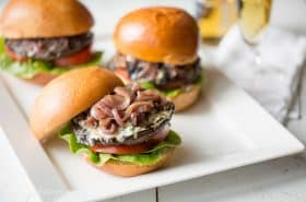 Portobello Blue Cheese Burgers-5