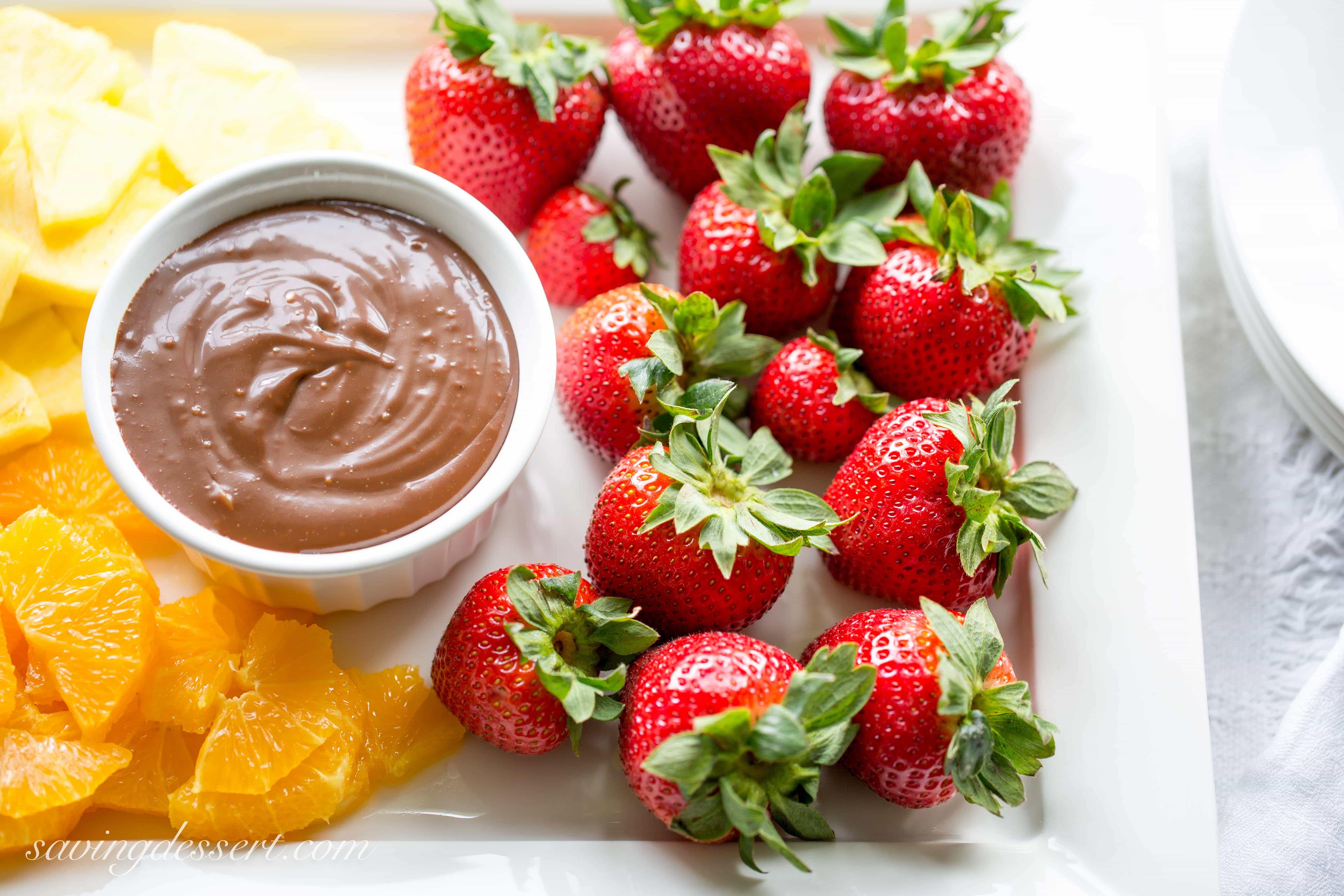 Chocolate Dulce de Leche Dip - Saving Room for Dessert