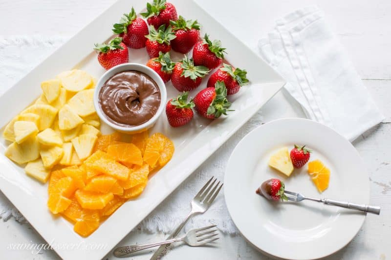 Chocolate Dulce De Leche Dip - Chocolate and caramel are a classic combination and in dip form, the possibilities are endless.
