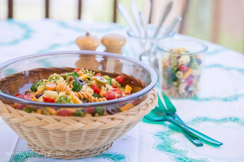 Easy Pasta Salad with Zesty Italian Viniagrette ~ from Saving Room for Dessert