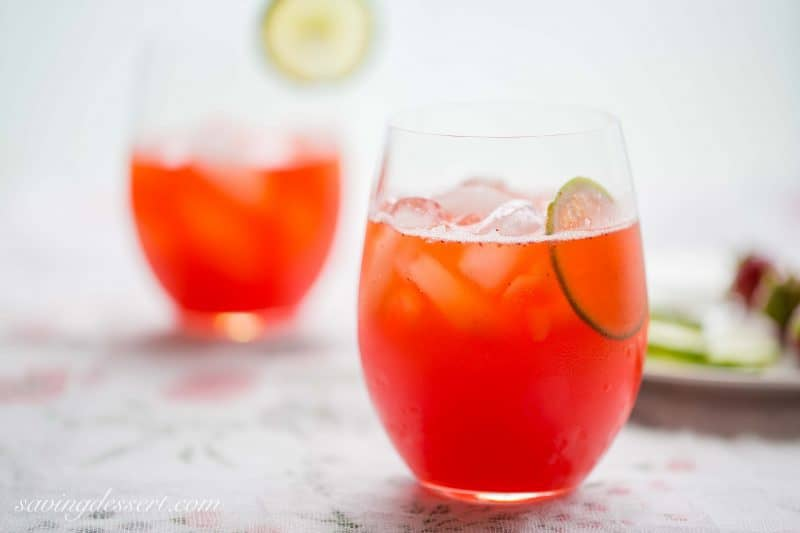 A wonderfully refreshing, lightly sweet, Strawberry Agua Fresca with Lime. The color is amazing, the flavor nearly perfect, and it's made with all natural ingredients and no artificial flavors. www.savingdessert.com