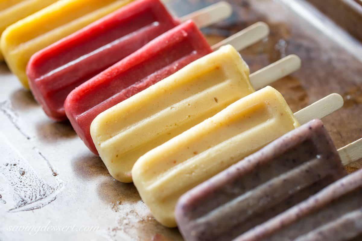 Assorted Fresh Fruit Popsicles Saving Room For Dessert