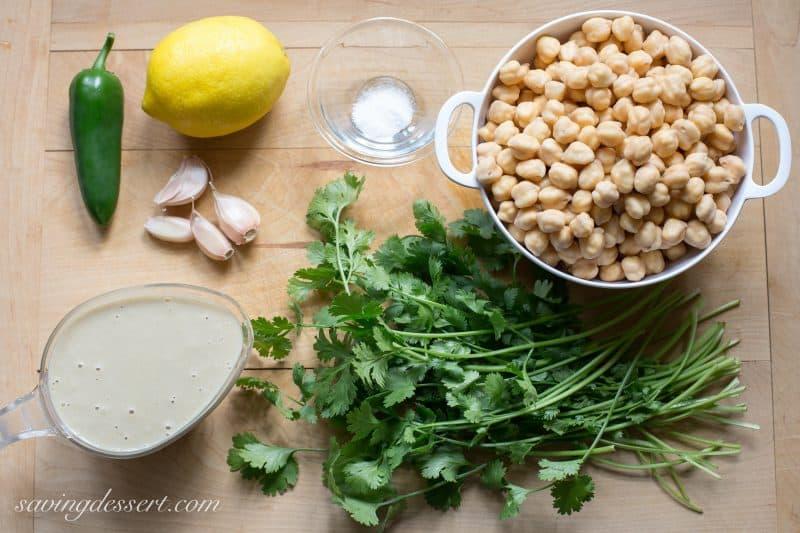 Spicy Jalapeno Cilantro Hummus ~ from Saving Room for Dessert