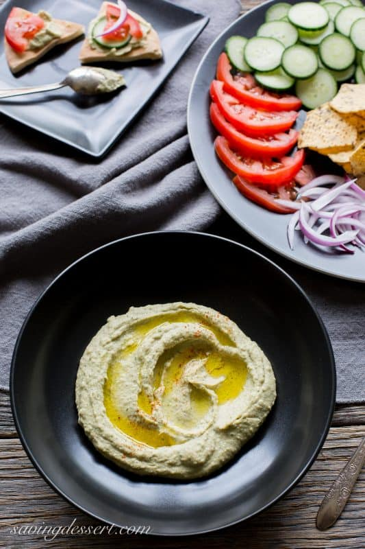 Spicy Jalapeno Cilantro Hummus ~ from Saving Room for Dessert