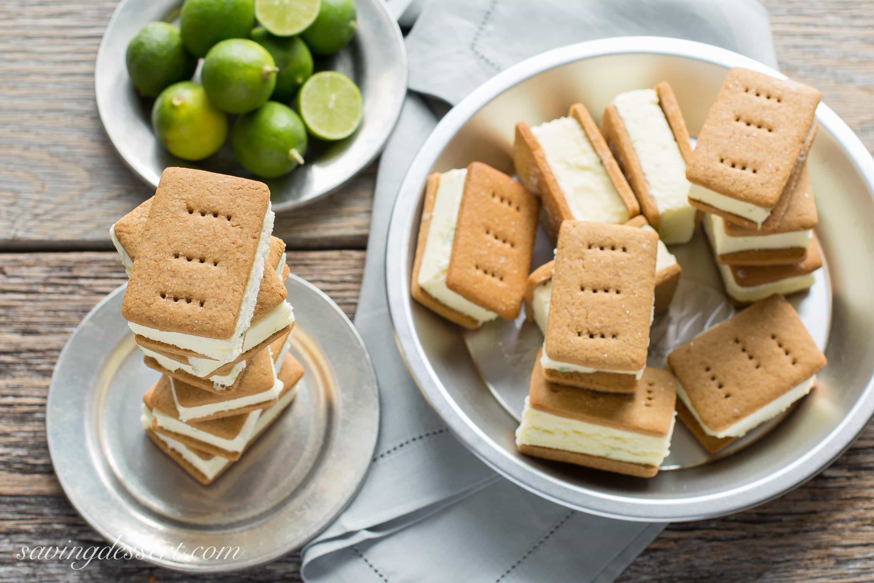 Key Lime Pie ~ Ice Cream Sandwiches - with homemade graham crackers ...