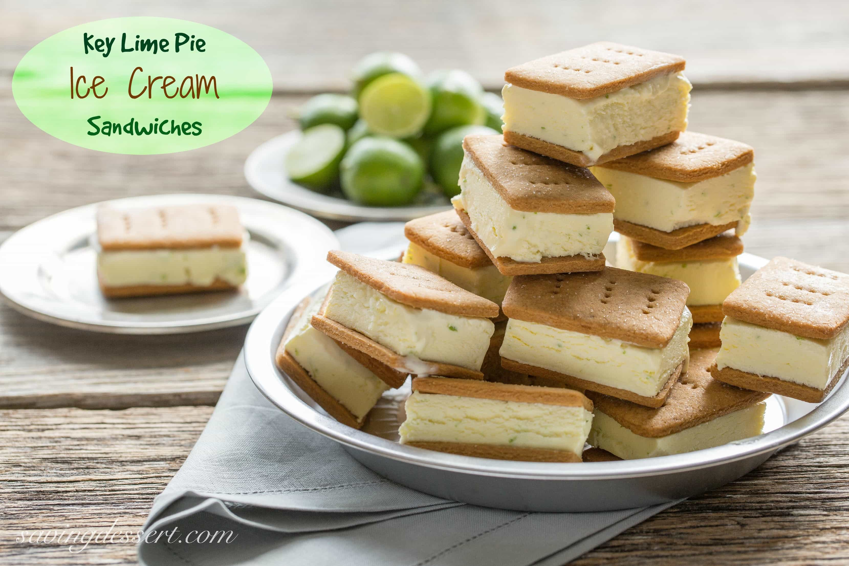 Key Lime Pie Ice Cream Sandwiches – with homemade graham crackers ...