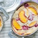 Raspberry Peach Clafoutis-7
