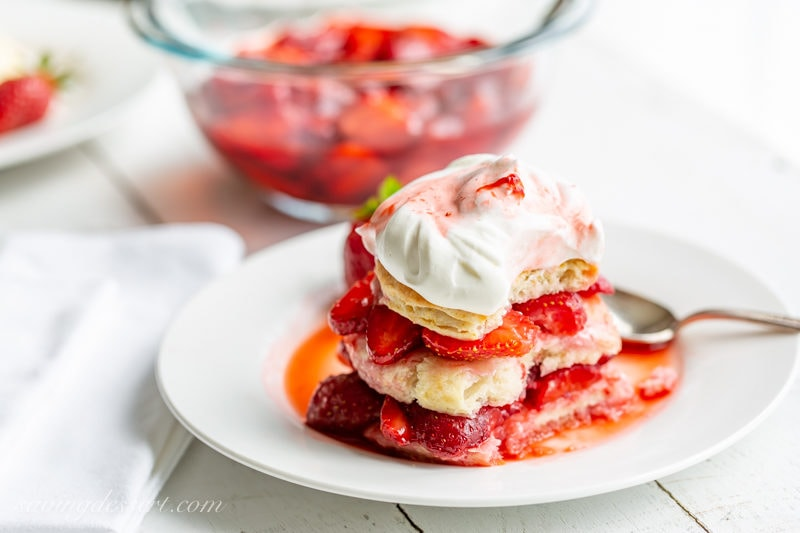 Strawberry scones with whipped cream