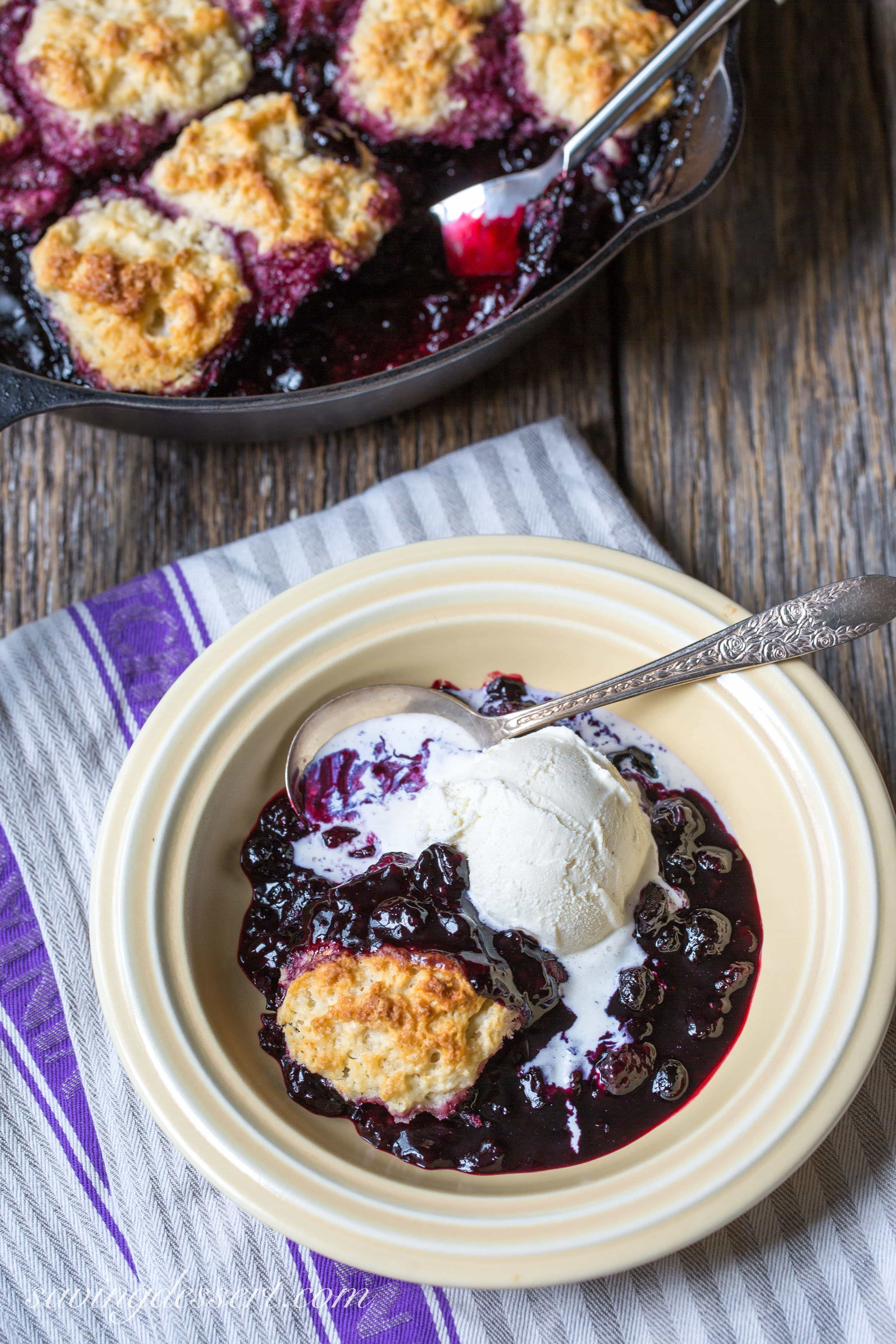 Black Raspberry Cobbler - Saving Room for Dessert