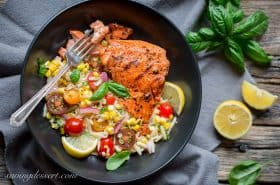 Grilled Salmon W Orzo Salad-20