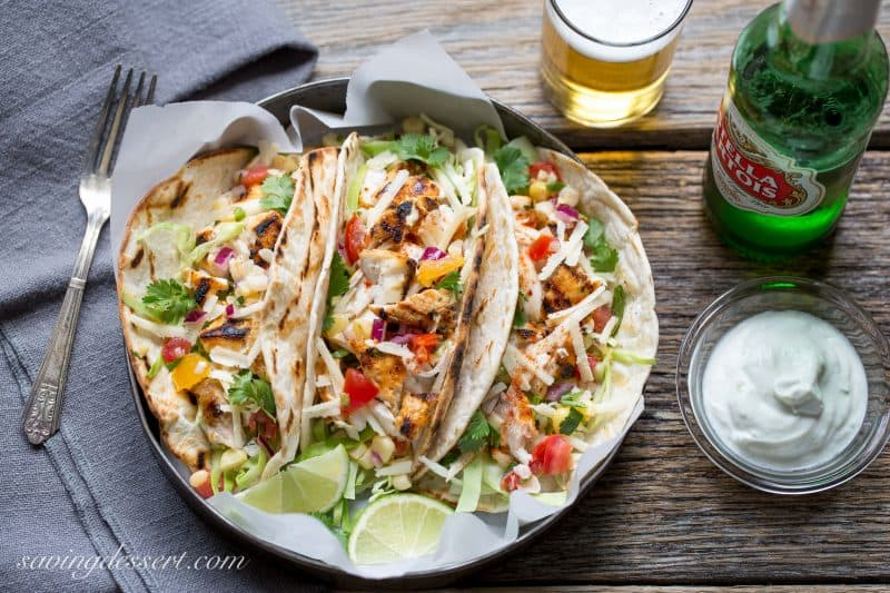 ... to come up with a recipe for grilled fish tacos where the fish doesn