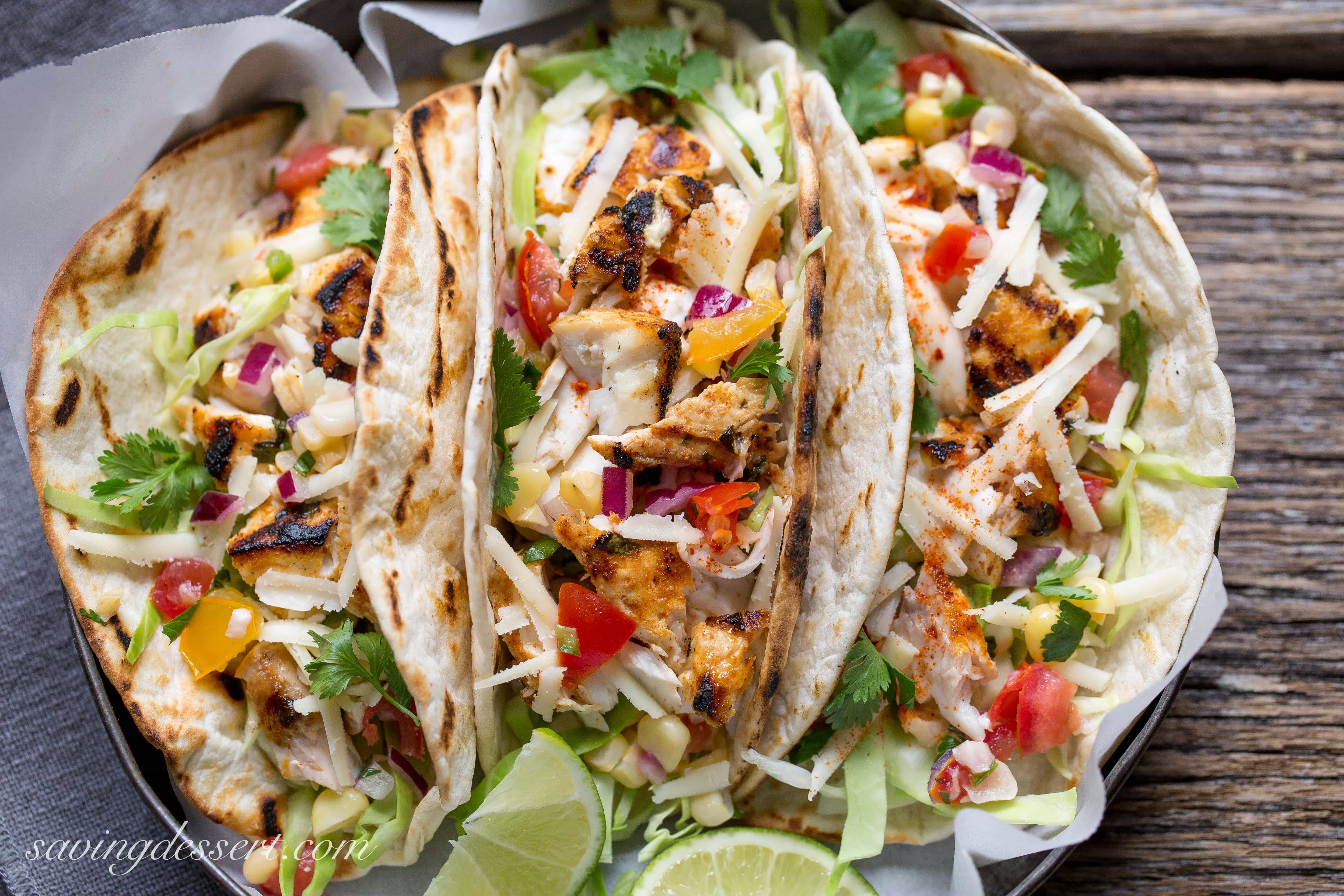 Sriracha Grilled Mahi Mahi Fish Tacos Saving Room For