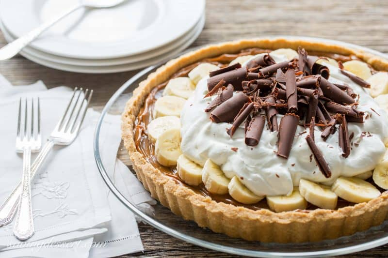 Banoffee Pie Banana Toffee Caramel Chocolate And Whipped Cream Piled