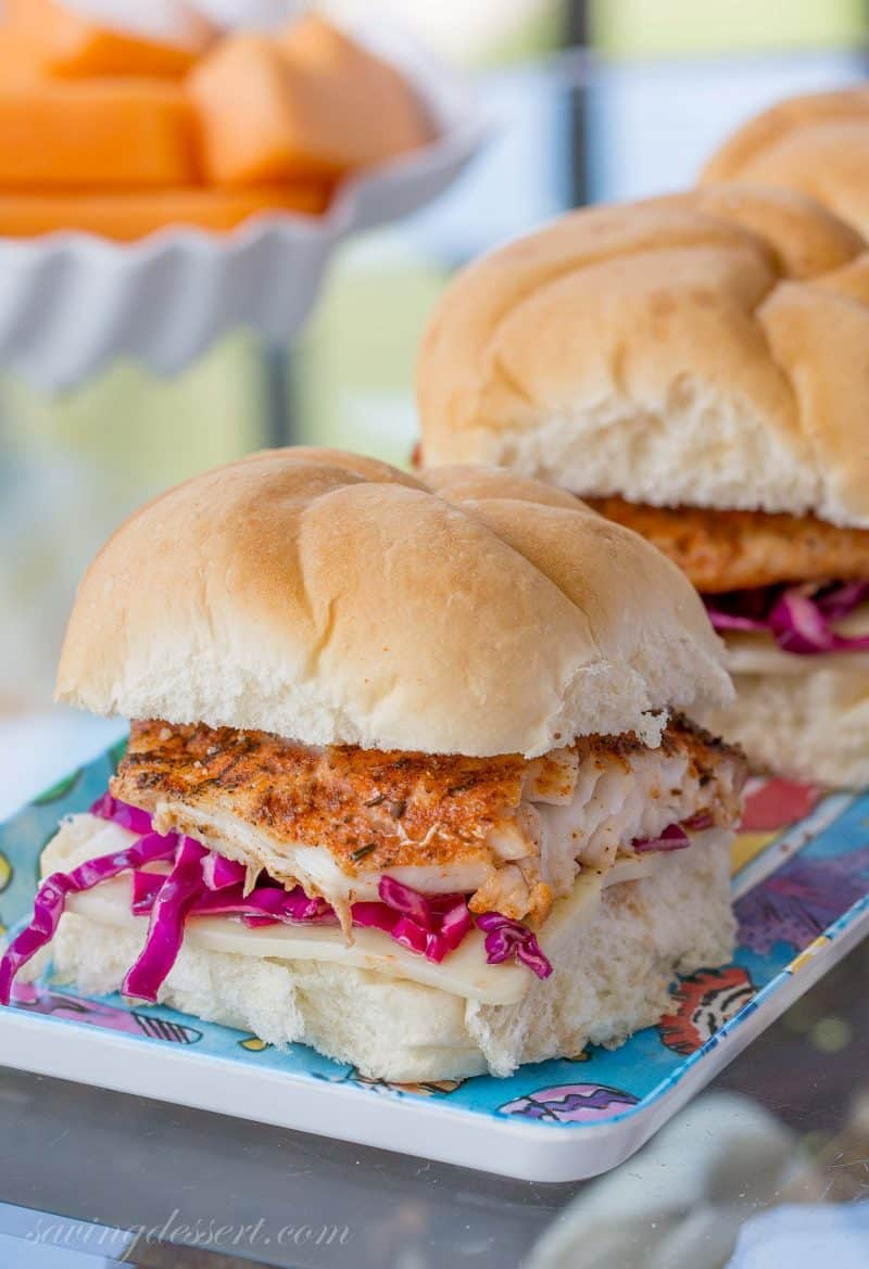 Grilled Blackened Grouper Sandwich