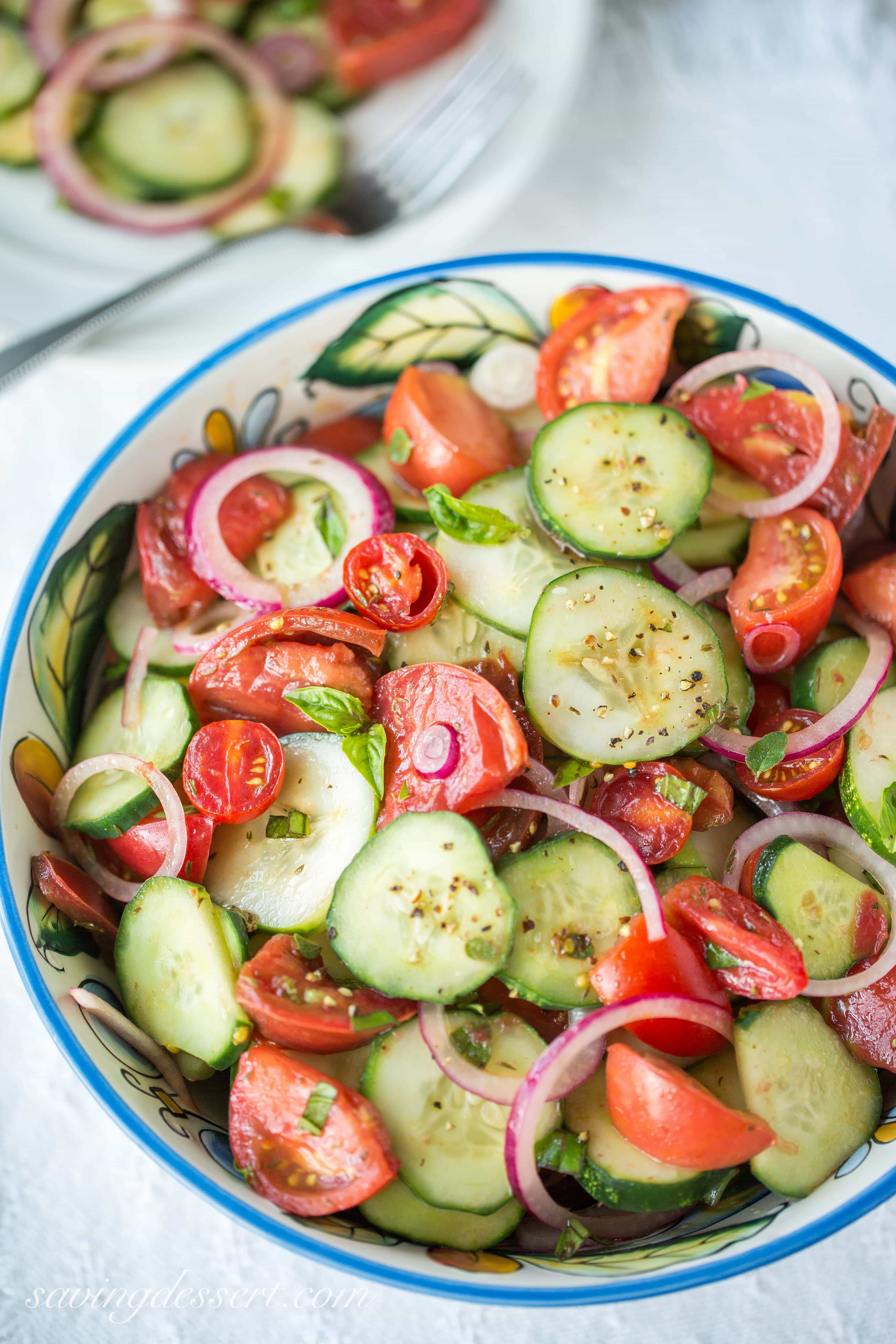 picture Tomato and Cucumber Salad